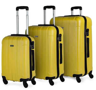 Set maletas para viajar de carcasa rígida con cuatro ruedas