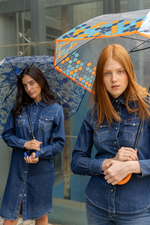 Paraguas transparente automático